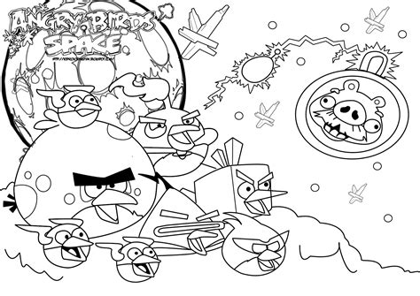 coloring pages printable angry birds angry birds space best coloring pages minister coloring
