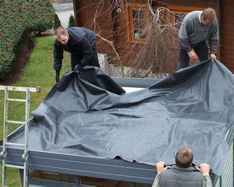 Flachdachabdichtung Folie Oder Bitumen by Flachdach Gartenhaus Abdichten Tipps Und Anleitung