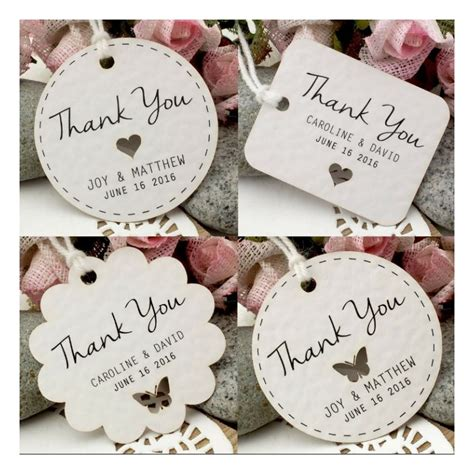 Wedding Gift Thank You by Personalized White Wedding Favor Thank You Gift Tags
