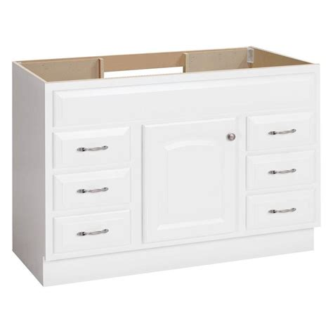 White Bathroom Vanities Shop Project Source White Bathroom Vanity Common 48 In X 21 In Actual 48 In X 21 In At