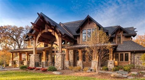 Western Rustic Timber Home Influenced By Old World Homes Country Timber Frame House Plans