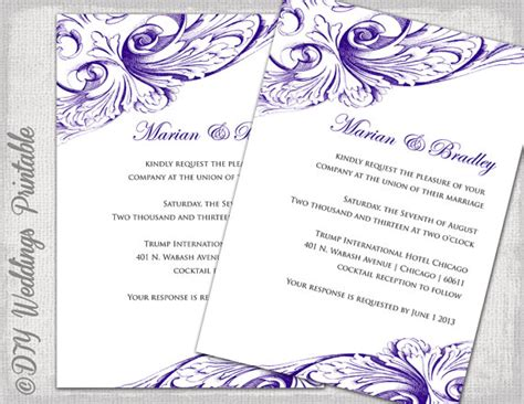 wedding invitation templates word free wedding invitation card templates