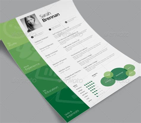 Sle One Page Resume Templates 21 Free Premium Download Free Cascade Resume Template