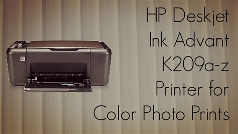 Printer Hp Deskjet Ink Advantage K209a Z hp deskjet ink advant k209a z printer for color photo