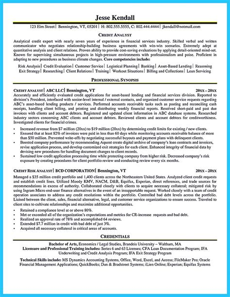 Credit Rating Analyst Resume by Cool Credit Analyst Resume Exle From Professional