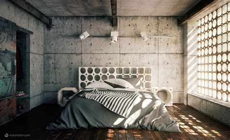 modern industrial bedroom cool cement bedroom interior design ideas