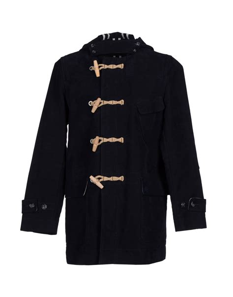 Moschino Coat lyst moschino coat in blue for