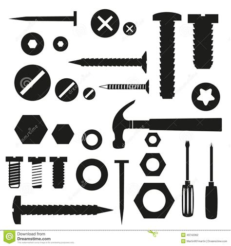 3d Kitchen Design Tool hardware screws and nails with tools symbols stock vector