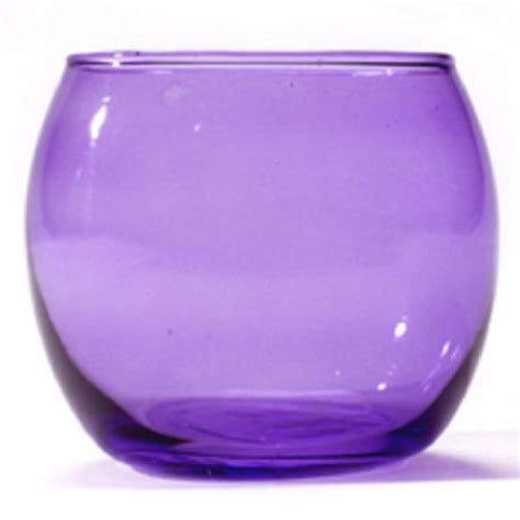 lilac purple glass tealight holders