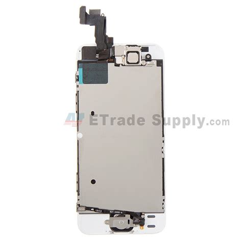 Apple Iphone 5s Lcd apple iphone 5s lcd screen and digitizer assembly with frame white etrade supply