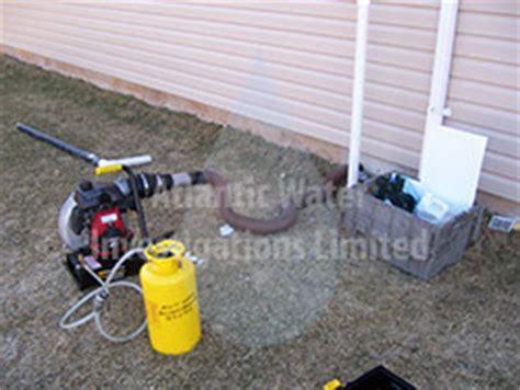 plumbing smoke test sewer gas leak detection sanitary