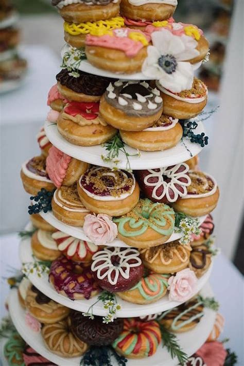 Donut Wedding Cake by Mouthwatering Ways To Display Doughnuts At A Wedding A