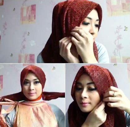 tutorial turban 2 warna busana muslim trendy hijab style tutorial hijab turban