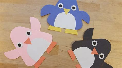 How To Make A Penguin With Paper - penguin storytime craft crafty pammy