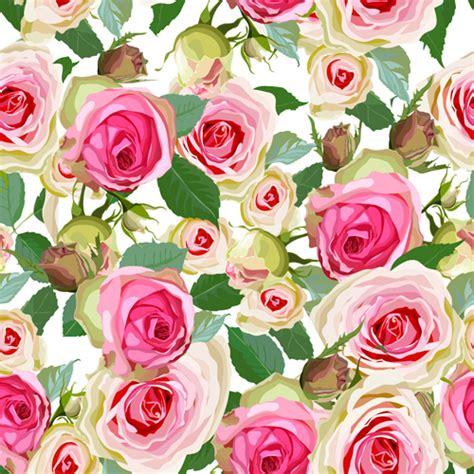 pattern pink rose vetor seamless pink roses vector pattern free vector in