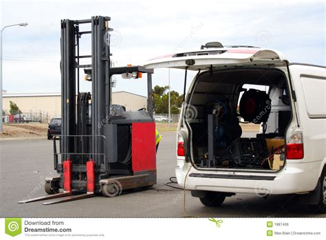 Forklift Mechanic by Forklift Repair Royalty Free Stock Image Image 1887406