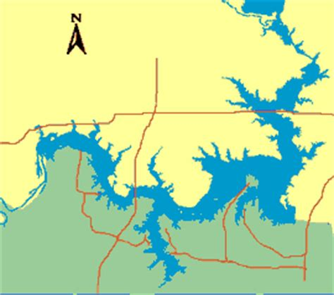 texoma texas map fishing lake texoma