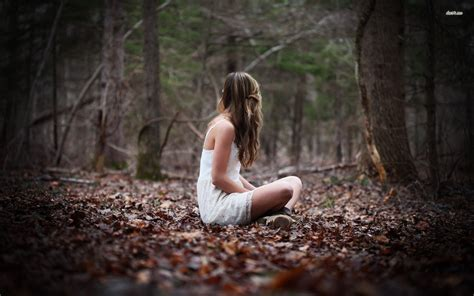 0008288607 the girl in the woods photography in the woods 19173 lonely girl in the woods
