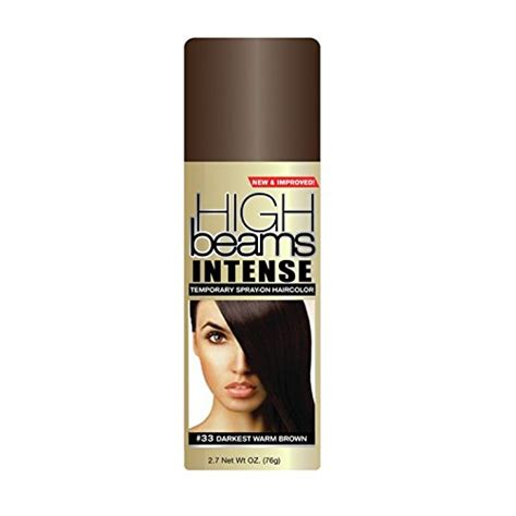 hairstyling products that temperaily give brunette hair warm brown tones amazon com high beams intense temporary spray on hair