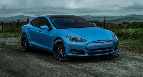 Tesla P85d Frozen Blue Tesla Model S P85d Is Cool As W