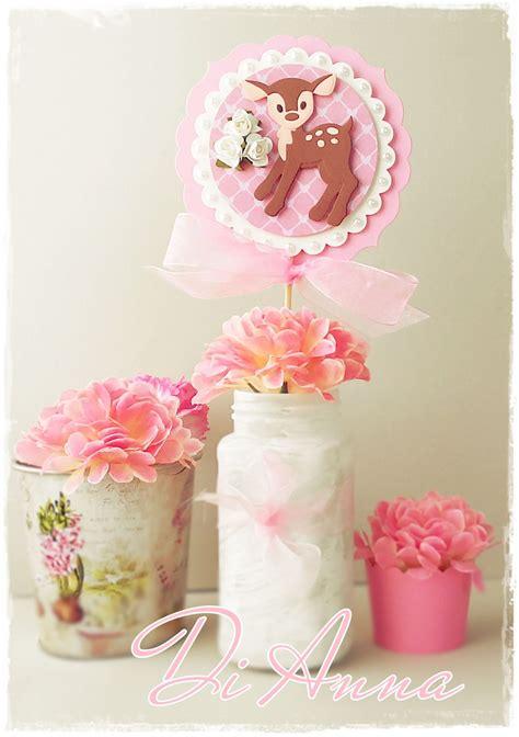 baby shower centerpiece 3d unique decor in pink