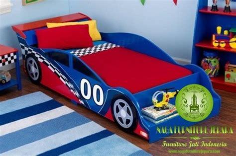 Ranjang Mobil Anak jual tempat tidur anak karakter minimalis dipan jati ukir