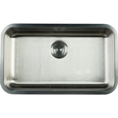 stainless steel single bowl undermount kitchen sink glacier bay undermount stainless steel 30 in single bowl