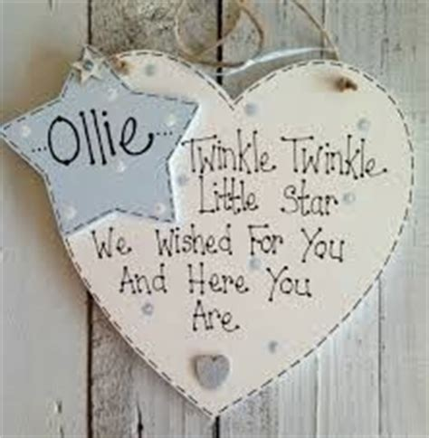 Handmade Christening Gifts - wooden shabby chic family heartstrings plaque craft