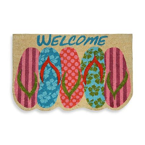 Flip Flop Bath Rug Flip Flop Door Mat Bed Bath Beyond