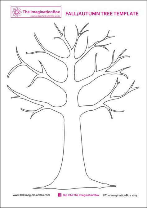 Print This Free Tree Template From The Imaginationbox To Create Your Own Beautiful Fall Autumn Tree Template With Leaves