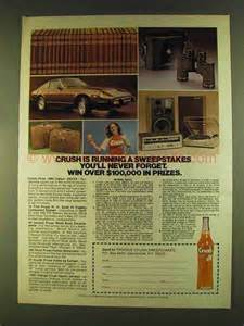 Running Sweepstakes - 1980 orange crush soda ad running a sweepstakes