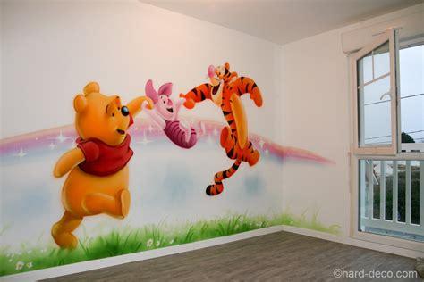 Tapisserie Winnie L Ourson by D 233 Cor Mural De Salle De Jeux Sur Le Th 232 Me De Winnie L Ourson