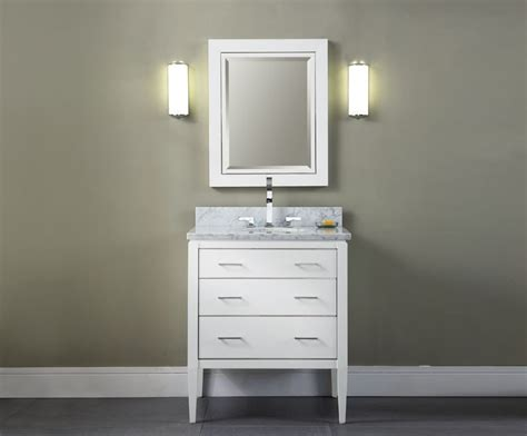 White 30 Inch Bathroom Vanity Manhattan 30 Inch Contemporary Bathroom Vanity White Finish