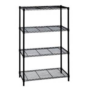 hdx 4 tier deco wire shelf in black 21436bps the home depot