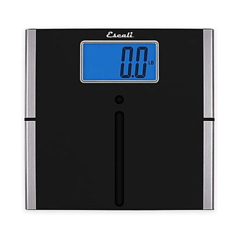 ultra slim easy read digital bath scale in black bed