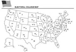 blank us election map free electoral college worksheet