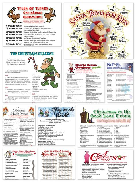 printable holiday quizzes printable christmas trivia games holiday party
