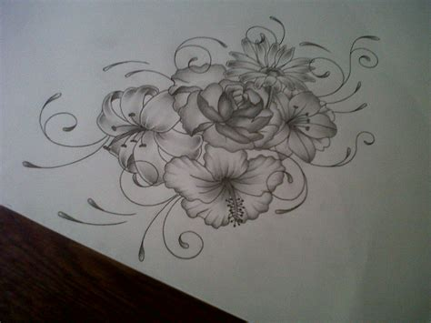 girly flower tattoo designs flower design by tattoosuzette on deviantart