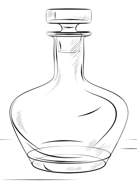 Desenho de Garrafa de vidro para colorir - Tudodesenhos