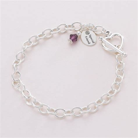 charm bracelet with birthstone and message jewels 4