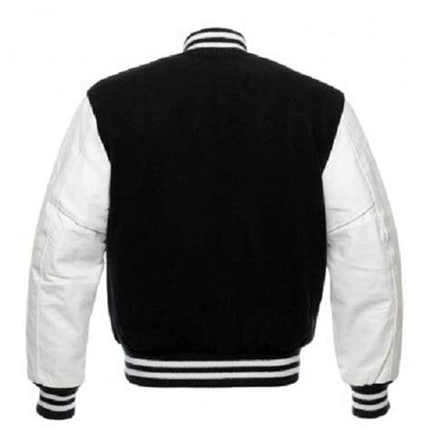 Jaket Zip Farsity Black baseball jacket back jackets review
