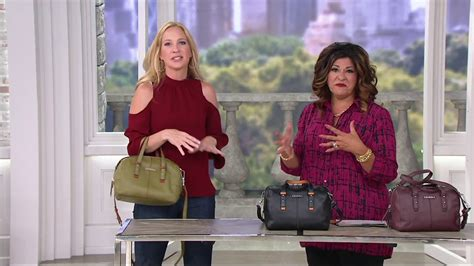 Vera Bradley Gallatin Satchel vera bradley gallatin leather satchel handbag on qvc