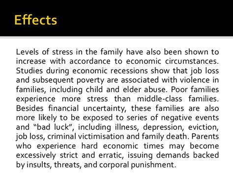 Poverty Cause And Effect Essay by Causes And Effects Of Poverty