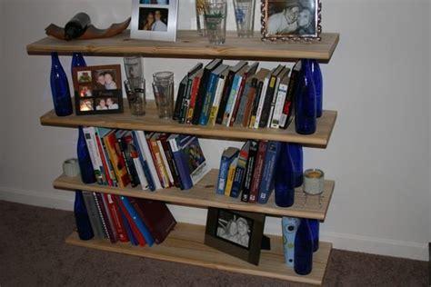 wine bottle bookshelf by looeyville lumberjocks