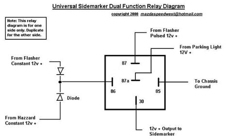 12 volt pole throw relay wiring diagram 12 volt
