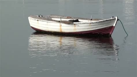 small boat on water pretty striped small boat on water stock footage video