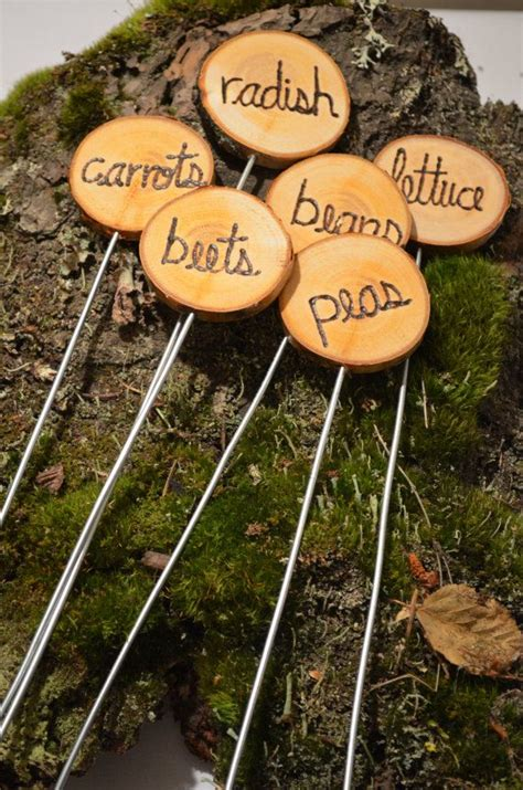 Vegetable Garden Stakes Garden Marker Stakes Herb Or Vegetable Garden Marker