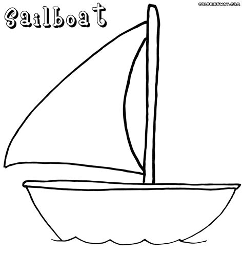 Sailboat Coloring Page Coloring Home Coloring Pages Boats