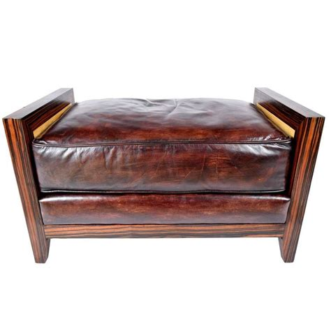 leather benches modern modern leather bench with brazilian wood frame for sale at