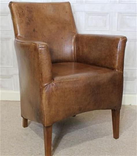 small brown leather armchair small leather armchair a vintage style chair brown aged